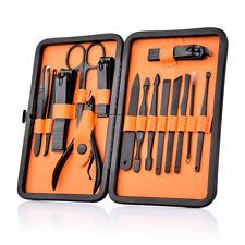 15pcs Manicure Set Nail Clipper Earpick Grooming Pedicure kit Men Women Portable