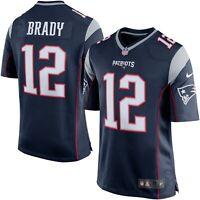 Tom Brady New England Patriots NFL football Jersey Nike shirt Navy XL