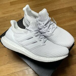 Adidas UltraBoost 4.0 DNA Triple White Cloud Mens Sizes 7-14 FY9120