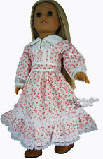 "Boho Granny Gown Dress & Granny Boots Made For 18"" American Girl Doll Clothes"