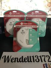 First Alert Smoke and Carbon Monoxide Alarm 3 Alarms Lot with Voice NEW SEALED!!