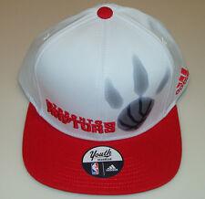 NBA Toronto Raptors Adidas Basketball Youth Hat Cap Strapback White Age 8-20 OS