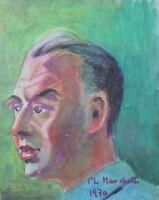 Portrait of Paul Codos or Louis Agnus per Marchetti London Paris Aviation Plane