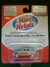 Classic Metal Works 30251 HO Mini Metals 53 Ford Country Squire Wagon Green