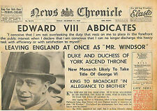 Edward V111 Abdicates 11 December 1936 Will Marry Mrs Simpson Leaving England