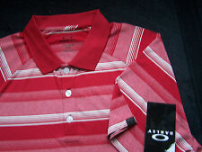 NWT - OAKLEY GOLF - PERFORMANCE POLYESTER - WARREN POLO - S - JESTER RED