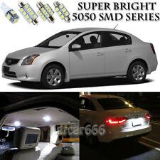 For Nissan Sentra 2007-2012 Xenon White LED Interior kit + License Light 8Pieces