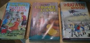 3 Vintage Enid Blyton Books / Mystery + Chimney Corner Stories + The Rat-A-Tat M