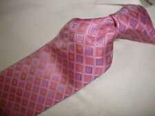 Daniel de Fasson men's woven 100% silk Pink Trifold necktie TIE 58X4