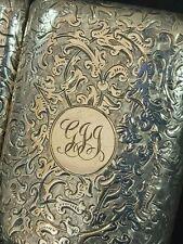Sampson Mordan Silver Cigarette case 1905 ART NOUVEAU SM&Co Silver Cheroot case