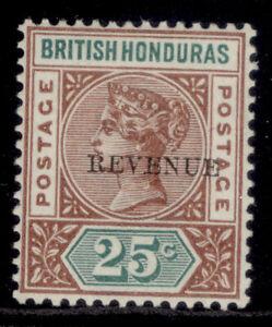 BRITISH HONDURAS QV SG68, 25c red-brown & green, M MINT.