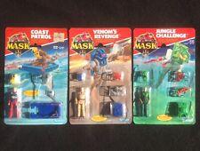 1980's M.A.S.K Action Figure Lot (3)Coast Patrol Venoms Revenge Jungle Challenge