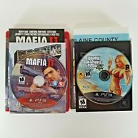 Lot of 2 PS3 Sandbox Games Mafia II 2 & GTA V 5 Complete VG Playstation 3