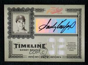 2005 Playoff Prime Cuts Materials Jersey Number Jerseys 1/1 Sandy Koufax Auto