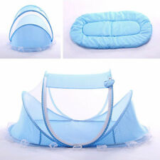 Blue Foldable Infant Baby Mosquito Net Travel Cot Tent Cradle Bed Pillow -ZH01