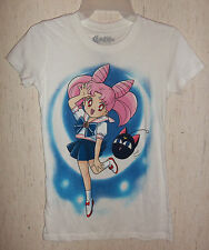 NWT WOMENS / JUNIORS Sailor Moon WHITE NOVELTY KNIT TOP / T-shirt   SIZE S