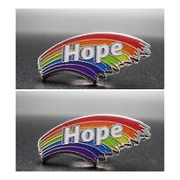 2 X NHS Rainbow Hope Badge NHS + Key Workers UK Pride LGBT Enamel Pin Thank You