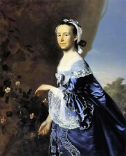 Oil painting john singleton copley - mrs. james warren (mercy otis) in landscape