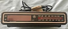 Vintage GE General Electric Digital Alarm Clock Radio - Woodgrain Model 7-4612A