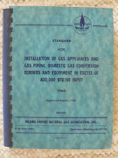 Inland Empire Natural Gas Association Standard for Installation of Gas Appliance