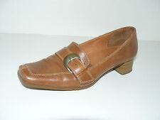 GÖRTZ Pumps Slipper Halbschuhe Damen Schuhe 39 UK 6 braun Leder elegant °0834
