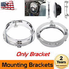 7inch Round Daymaker LED Headlight Mounting Bracket Ring Jeep Wrangler JK Harley