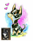 Custom Caricature Portrait Pet Body from your Photo sent as a Digital Download