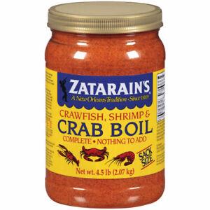 Zatarain's Crawfish, Shrimp & Crab Boil ~ Large 4.5 lb Jar ~ Cajun Spice Blend