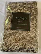 Avanti The Art Of Bath Damask Shower Curtain Gold/Brown