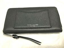 Marc Jacobs Recruit Continental Clutch Wallet Italian Pebbled Leather Shadow 210