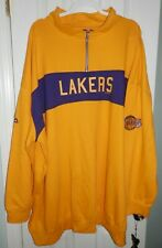 Los Angeles Lakers NBA Hardwood Classics Long Sleeve Zip Pullover 6XL Big & Tall