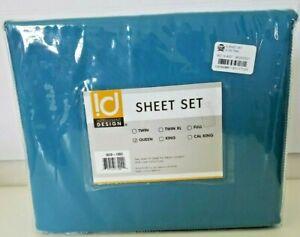Intelligent Design Queen All Season Wrinkle Free Sheet Set Teal-New