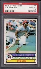 1979 Joe Morgan O-PEE-CHEE Baseball Card #5 Graded PSA 8 Near Mint-Mint (NM-MT)