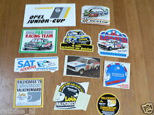 STICKER,DECALS SET 1 RALLYE CARS,RALLY LOT OF ABOUT 11 STICKERS SEE PICTURES
