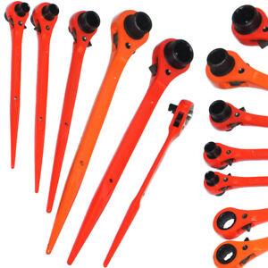 Ratchet Podger Spanners Hi-Viz Scaffold Steel Erecting 10,13,17,19,21,24 & 30mm