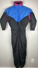 Rad Vintage Ski Suit Mens Medium Blue Pink Winter Snow 80's 90's Retro Insulated