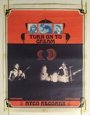 Turn On To Cream Vintage Poster Original Promo Ad Atco Records Disraeli Gears