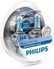 Kit 2 Lampade Philips H4 White Vision Ultra Lampadine Fari - Effetto Xenon
