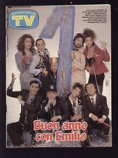 SORRISI 1/1989 SABRINA SALERNO LORELLA CUCCARINI CARLO VERDONE COMPAGNI DI SCUOL