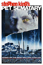 Incorniciato Retrò movie poster-stephen king PET SEMATARY 1989 (REPLICA STAMPA ART)
