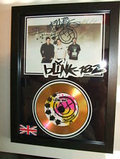 BLINK 182   SIGNED FRAMED GOLD CD  DISC 88