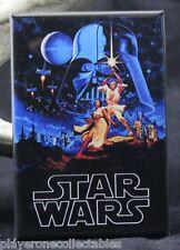 "Star Wars 2"" X 3"" Fridge / Locker Magnet. Luke Skywalker Leia"