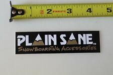 Plain Sane Snowboard Accessories Snow Ski Mountain Vintage Snowboarding Sticker