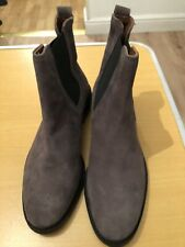 H & M, Eur 38, Uk 5, Brown Real Suede Leather Ankle Low Heel Boots, RRP £49.99