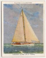 """The Blue Peter"" Cruiser Class Racing Yacht Sailboat  1930s Ad Trade Card"