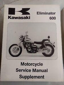 Kawasaki Eliminator 600 USED Service Manual SUPPLEMENT 99924-1185-52