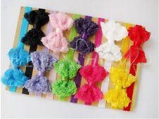 10 Pcs Bulk Girl Baby Infant Kid Flower Hair Clips Headband Bow Elastic Hairband
