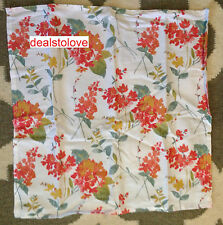 NEW Cynthia Rowley Floral Cotton 4 pk table Napkins Flowers Coral  20 x 20