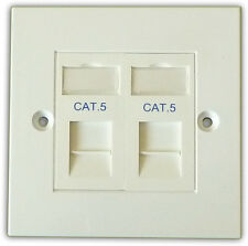 CAT5 2 VIE dati rete OUTLET KIT, FACEPLATE, moduli. LAN Ethernet per montaggio a parete