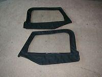 Soft Top Upper HALF Door skins BLACK 49535 1997-2006 FOR Jeep Wrangler TJ LJ